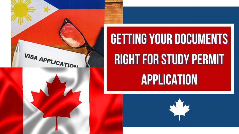 Getting Your Documents Right for Study Permit Application