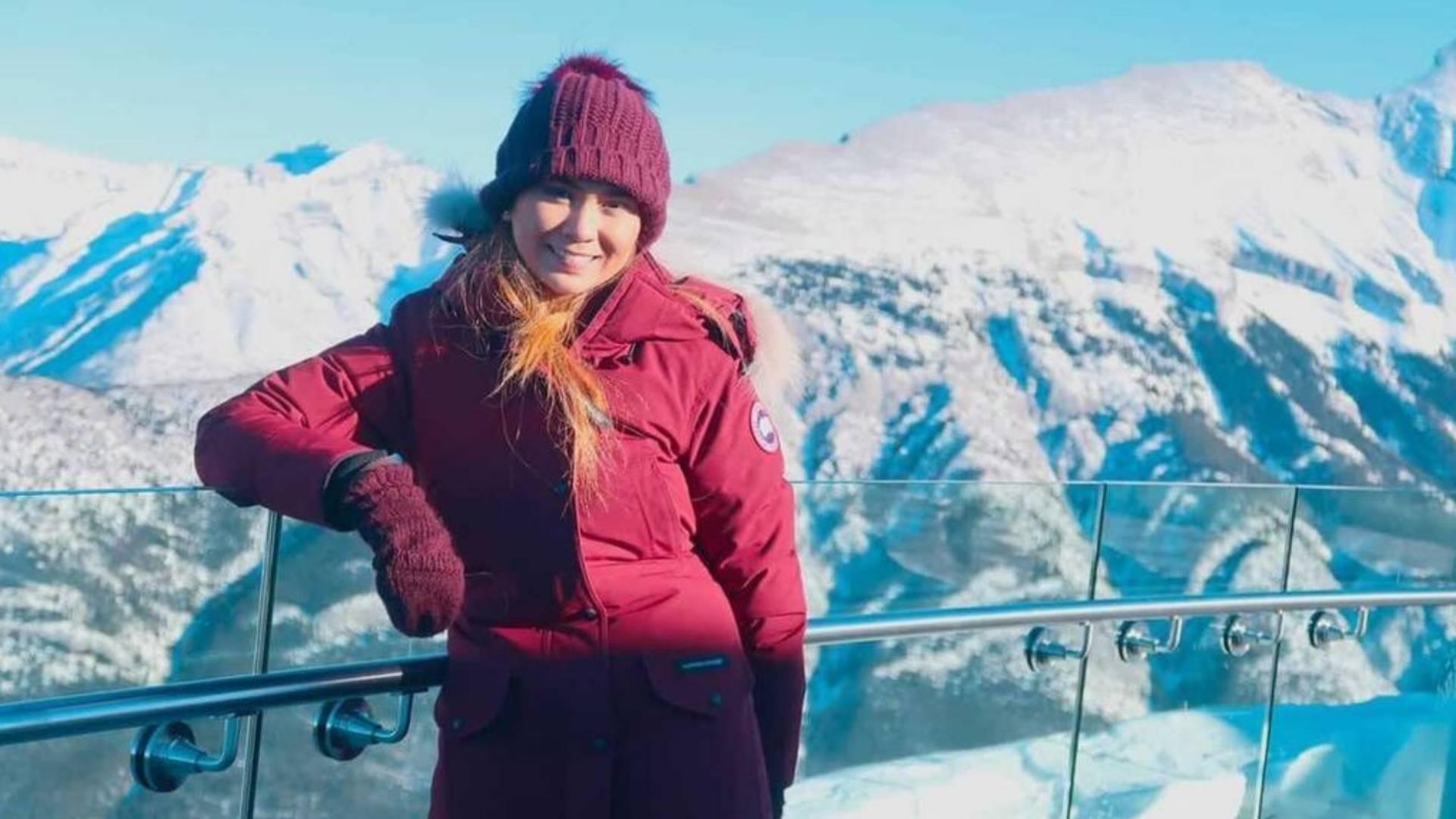 Sabrina in Ice Mountain in Canada